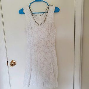 You Are Not Alone White Lace Dress